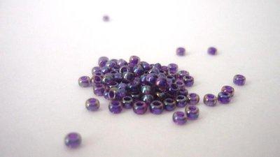 Miyuki® Rocailles 8/0  Purple Lined Amethyst AB  Confezione da 20 gr. 2,30 euro
