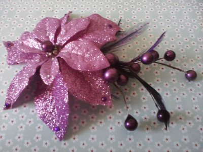 The Sparkling Purple Holiday Poinsettia!