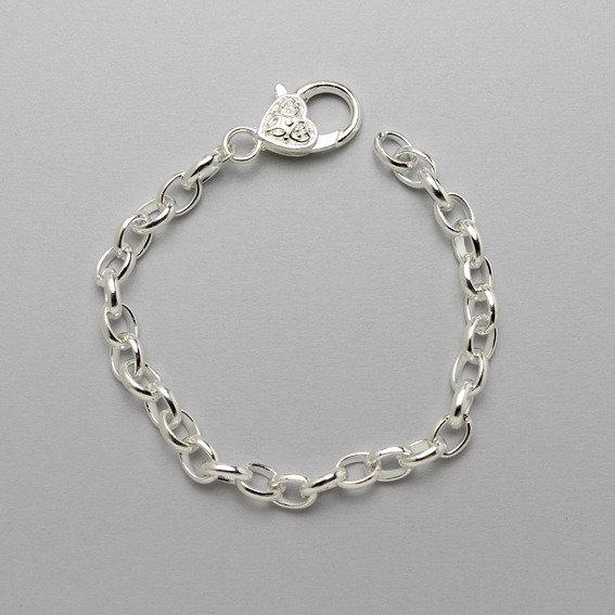 base per bracciale color argento rodiato