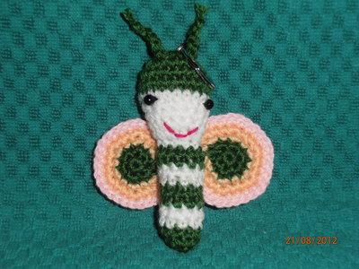 Amigurumi Farfalla Verde  Portachiavi.