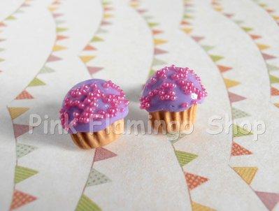 Orecchini cupcake a lobo in Fimo 4