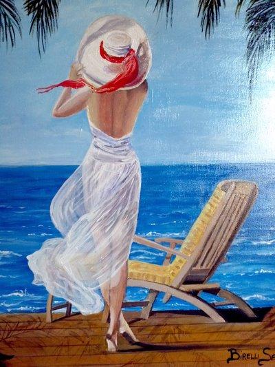 """Quadro """"un'estate al mare"""""""