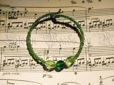 Bracciale verde wire