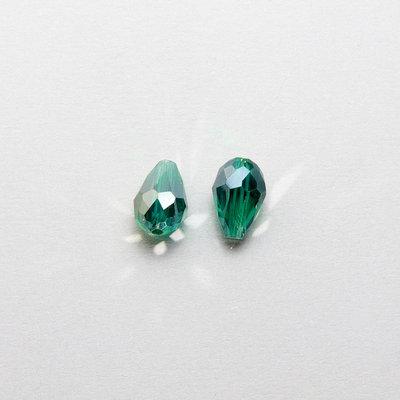 2 cristalli a goccia verdi