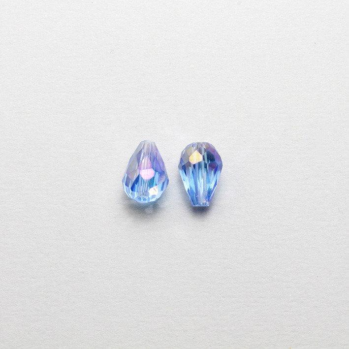 2 cristalli a goccia azzurri