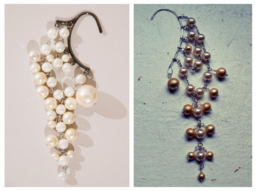 Orecchini di lusso con pendenti perle Kaffa