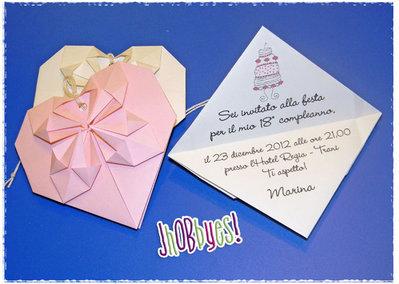 """Invito """"Cuore Origami"""""""