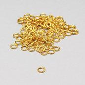 100 anelli di congiunzione oro 4mm