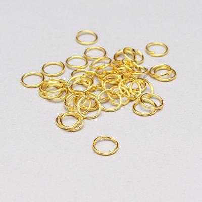 60 anelli di congiunzione oro 7mm