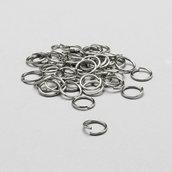 60 anelli di congiunzione argento 8mm