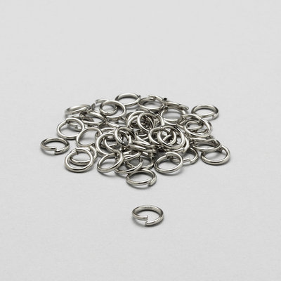100 anelli di congiunzione argento 6mm