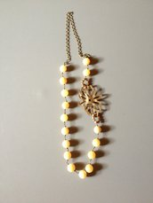 Collana in giada color champagne e ottone - Originalshapes