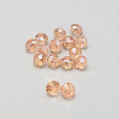 15 rondelle briolette cristallo rosa