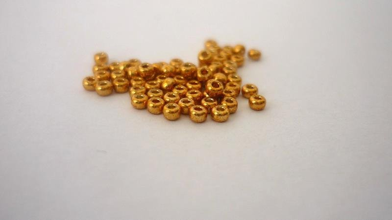 Miyuki® Rocailles 11/0   Duracoat Galvanized Yellow Gold