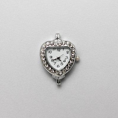 1 cassa orologio a cuore con strass
