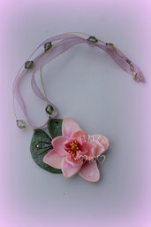 waterlily necklace- collana ninfea