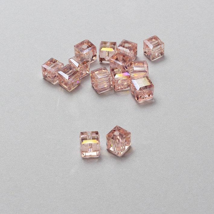 5 cristalli - cubo rosa