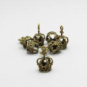 2 charm corona bronzo antico