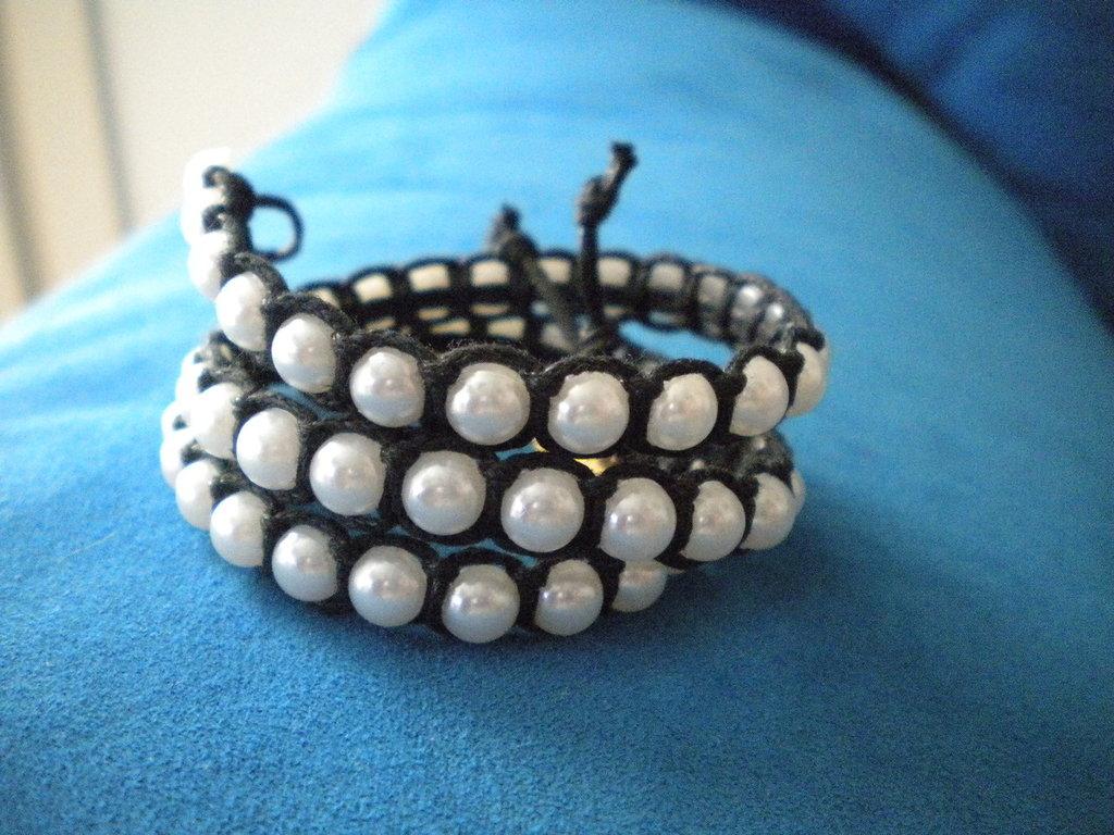 Bracciale spago-perle