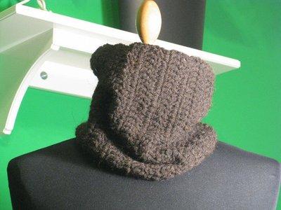 Scaldacollo lana marrone