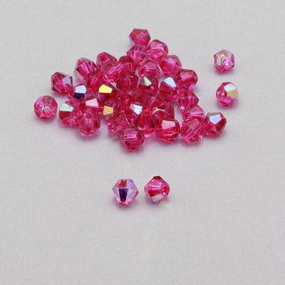 20 cristalli bicono fucsia