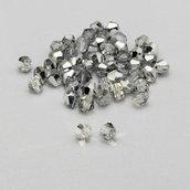 20 cristalli bicono color argento