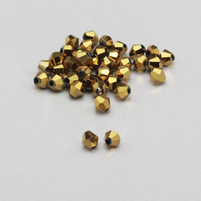 20 cristalli bicono color oro