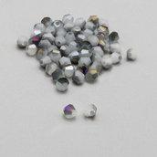 20 cristalli bicono grigio e viola