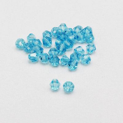 20 cristalli bicono acquamarina