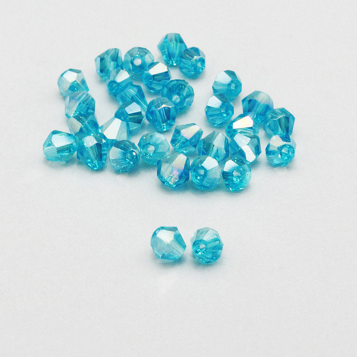 20 cristalli bicono acquamarina AB