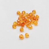 20 cristalli bicono giallo-arancio