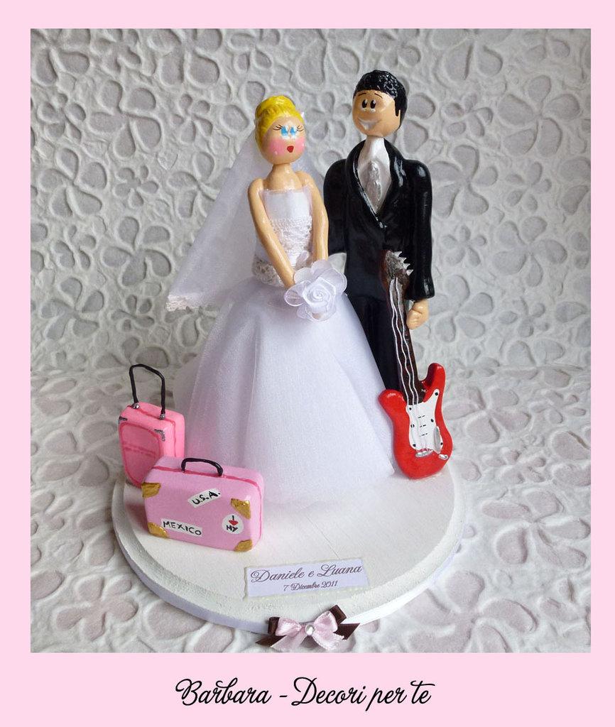 CAKE TOPPER Statuina per torta nuziale