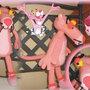 amigurumi pantera rosa - the pink panther per nascita,bomboniera regalo speciale