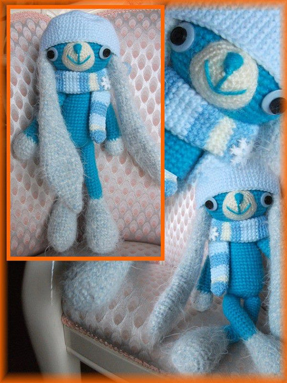 amigurumi coniglio stile kawaii - bunny kawaii style per nascita,bomboniera o per un regalo speciale