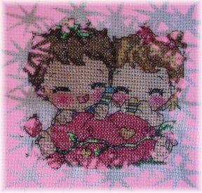 cuscino punto croce-cross stitch pillow