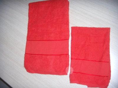 coppia di asciugamani con inserto in tela aida