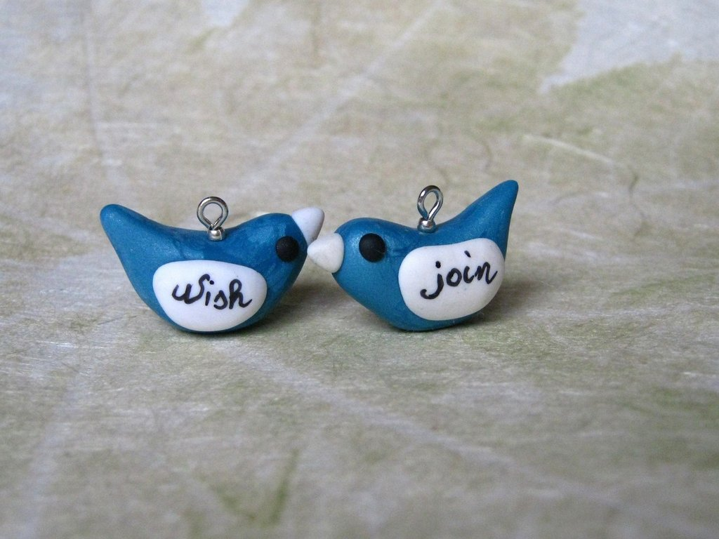 Bluebirds of happiness set di 2 charm