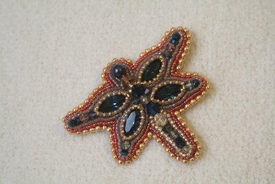 Spilla bead embroidery-Preziosa libellula