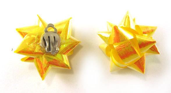 Orecchini fashion fatti a mano con fiocchetti regalo con chiusura a clip o per i buchi