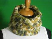 Scaldacollo lana verde melange