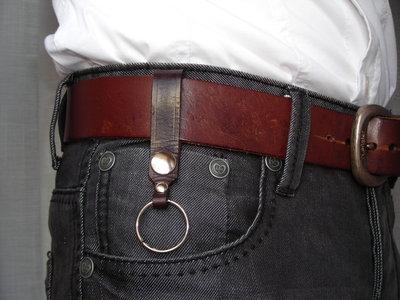 Portachiavi in pelle cuoio per cintura - leather keyring Key chain for belt