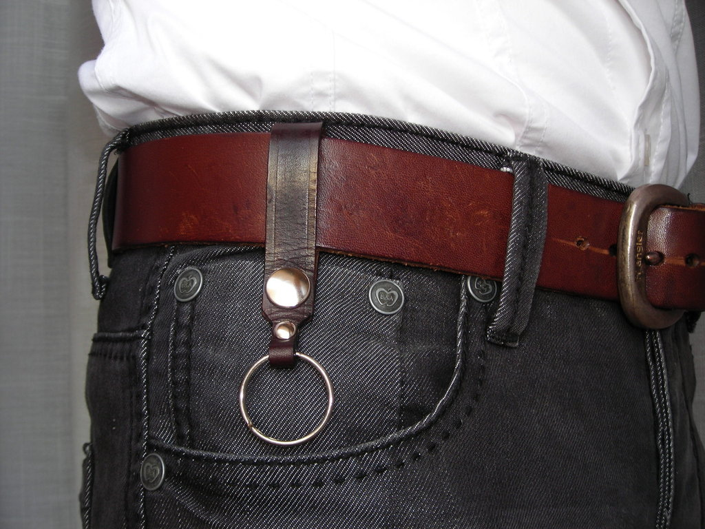 Portachiavi in pelle cuoio per cintura - leather keyring Key chain for belt