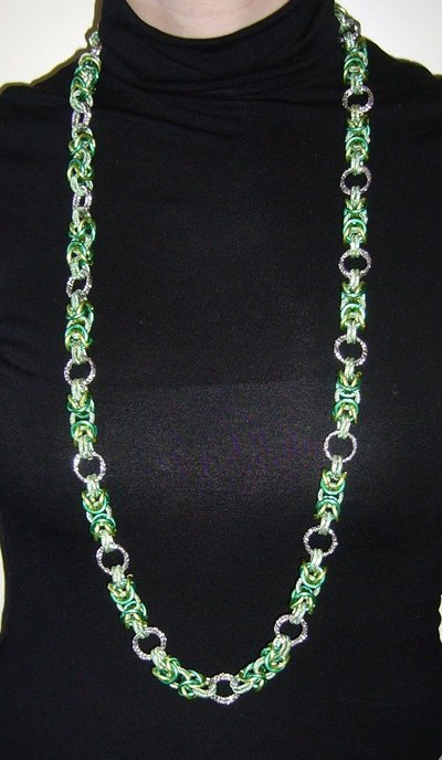 Collana Chainmaille Verde