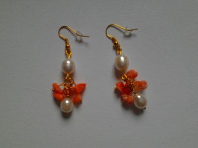 corallo e perle di fiume