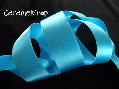 nastro raso azzurro
