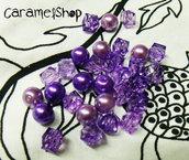 perline MIX lilla-viola