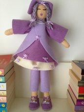 bambola in feltro modello oriente