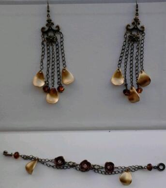 orecchine e brsciale in bronzo