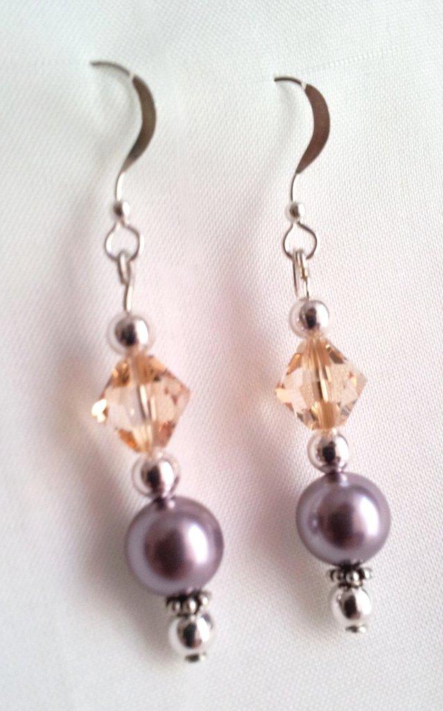Orecchini perla cristallo Swarovski