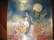 "Piatto ""geisha con veste bianca"""